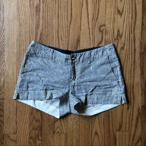 Michael Stars Navy White Stripe Linen Shorts XS